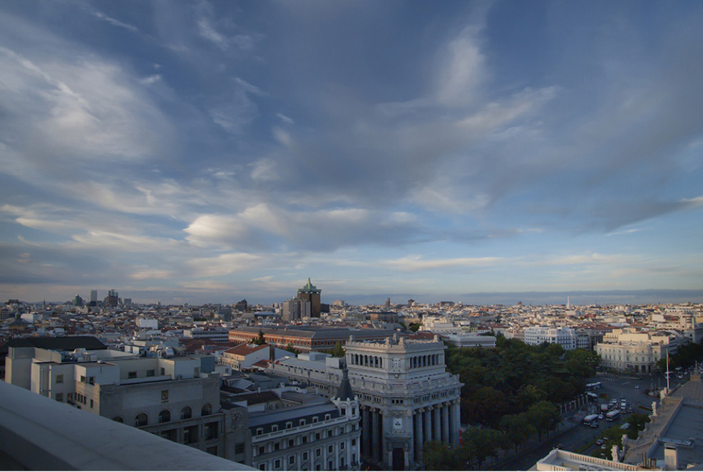 Roof terrace of the Círculo de Bellas Artes
